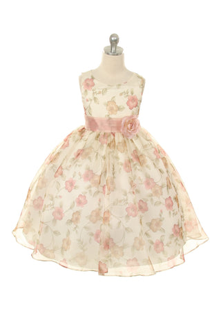 Classic Floral Organza Girl Dress