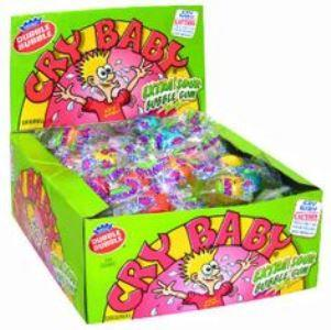 Cry Baby Extra Sour - Bubble Gum Tube - 25 Cent - 36CT