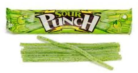 Sour Punch Straws Apple - 2 oz. - 24CT