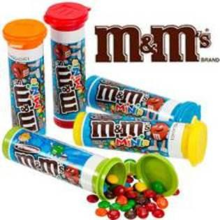 M&M's Milk Minis Tubes - 1.08oz - 24CT