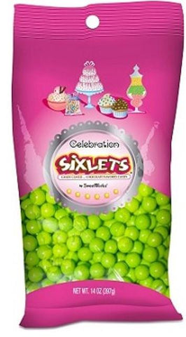Sixlets Lime Green  - 14oz