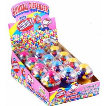 Dubble Bubble Mini Gumball Dispenser - 12CT