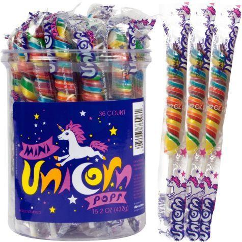 Unicorn Pops 15.2-oz - Mini Rainbow Jar - 36CT