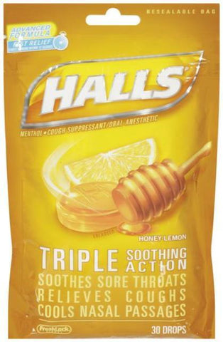Halls Honey Lemon - 7 oz - 12CT
