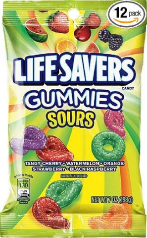 Life Savers Gummies  Assorted Sours - 7 oz - 12CT