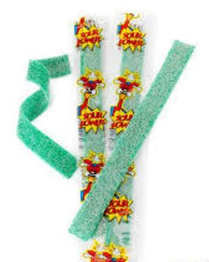 Sour Power Belts - Wrapped Green Apple - 150CT
