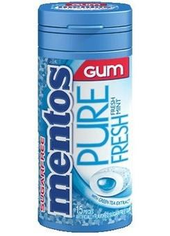 Mentos Gum Bottle - Fresh Mint - 10CT