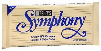Symphony W/ Almonds & Toffe XL - 4.25 oz - 12CT
