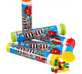 M&M's Milk Minis Mega Tubes - 1.77 oz - 24CT