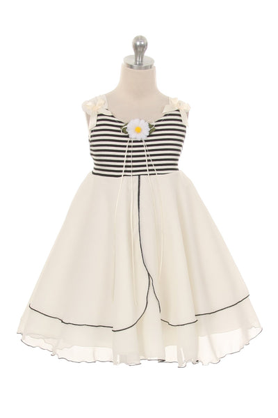 Daisy Stripe Girl Sundress