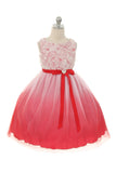 Rosette Bodice Ombre Girl Dress