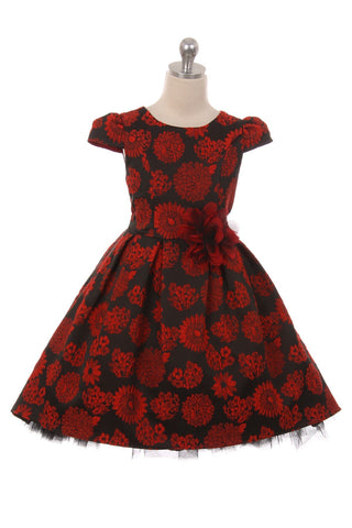 Peek-A-Boo Tulle High-Low Girl Dress- Full Bloom