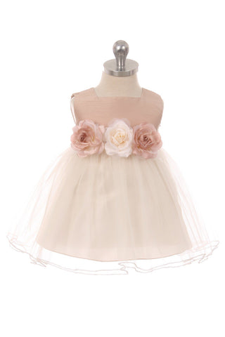 Satin Tulle Baby Dress
