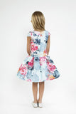 Watercolor Floral Mikado Dress