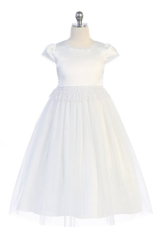 Chandelier Trim Communion Dress