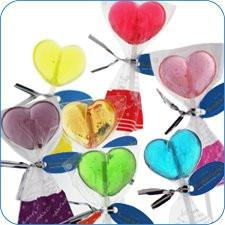 Twinkle Heart Lollipops - Assorted: 120-CT