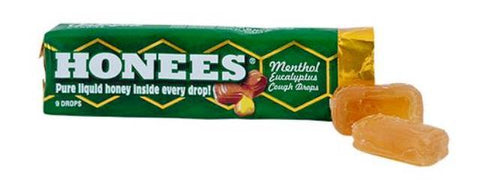 Honees Cough Drops - Menthol Eucalyptus - 24CT