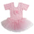 Pink Lace Flower Short Sleeve Ballet Dress