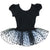 Black/White Hearts Short Sleeve Ballet Dress