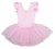 Pink Rhinestone & Silver Trim Ballet Dress