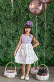 Cotton Shoulder Bow Button Dress
