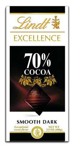 Lindt Classic Excellence 70% Cocoa Bar - 3.5oz 12ct