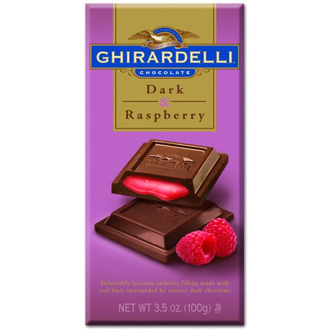 Ghirardelli Dark Chocolate Raspberry Bar - 3.5 12ct