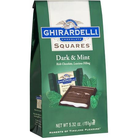 Ghirardelli Dark Chocolate White Mint Bag - 5.32oz 12ct