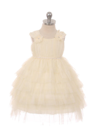 Layered Mesh Baby Dress