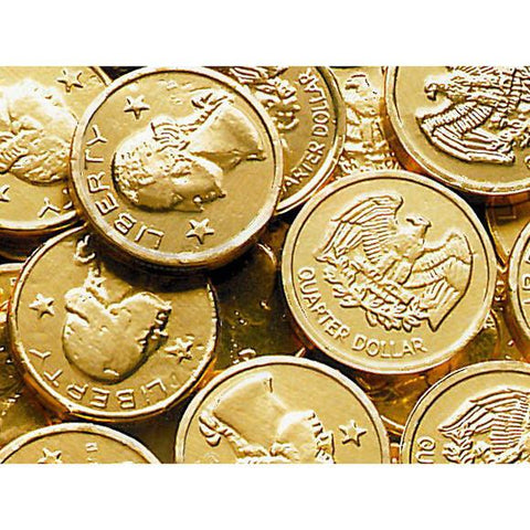 Miscellaneous Gold Coins Milk Chocolate 25¢ - 24lbs