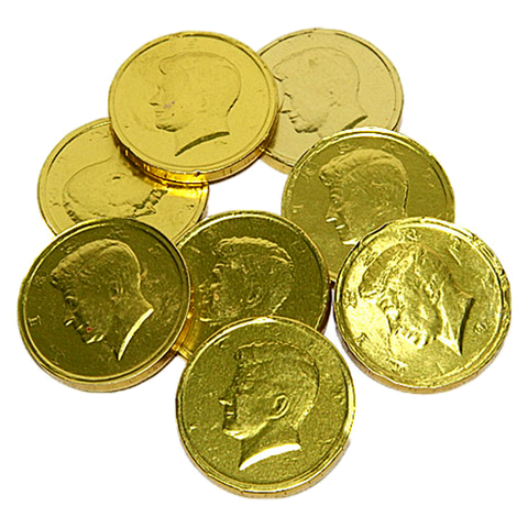 Miscellaneous Gold Coins Milk Chocolate 50¢ - 24lbs