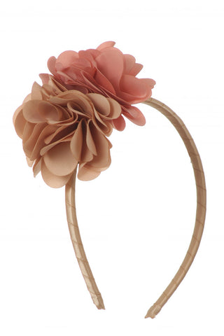 Double Satin Flower Headband