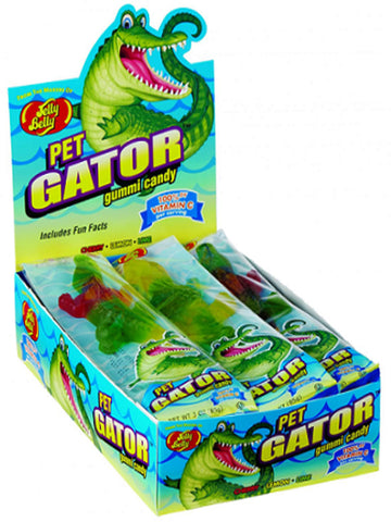 Jelley Belly Gummi Pet Gator - 12ct