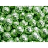 Sweetworks Leaf Green Foil Covered Chocolate Balls - 5lbs