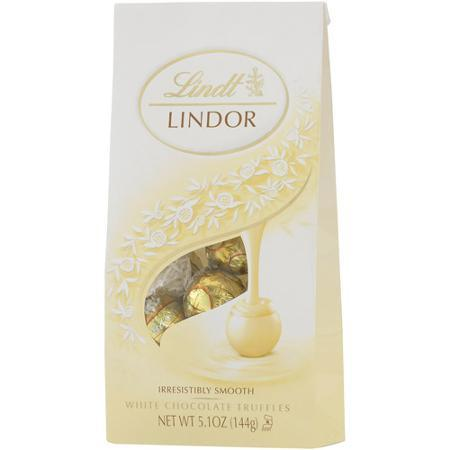 Lindt Lindor Truffle Bag White - 5.1oz 12ct