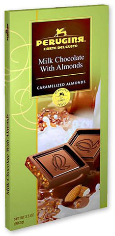 Perugina Milk Chocolate With Almonds Tablet - 3.5oz 12ct