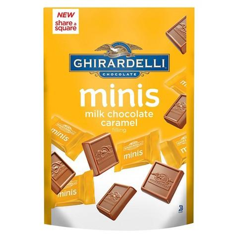 Ghirardelli Milk Chocolate With Caramel Minis - 4.6oz 6ct