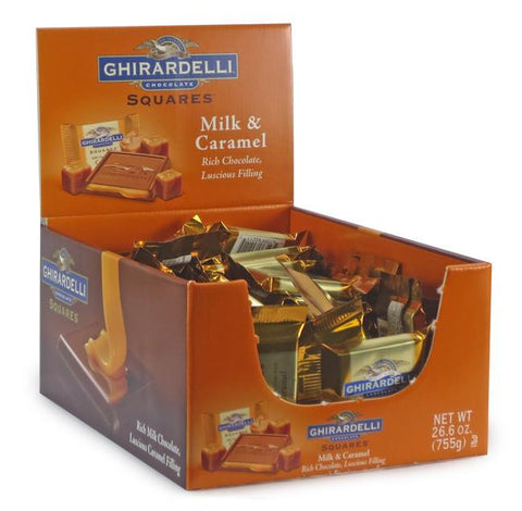 Ghirardelli Milk Chocolate With Caramel Squares - 50ct