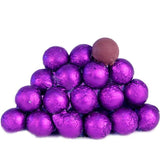 Sweetworks Purple Foil Covered Chocolate Balls - 5lbs