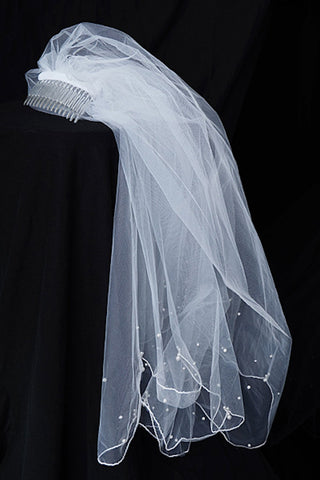 Veil Embedded with Pearls