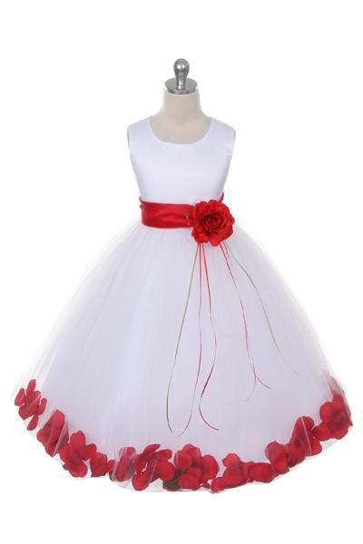 Flower Petal Dress w/ Sash (White Dress) 2of2