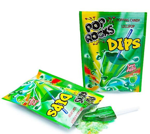 Pop Rocks Dips - Sour Apple - 18CT