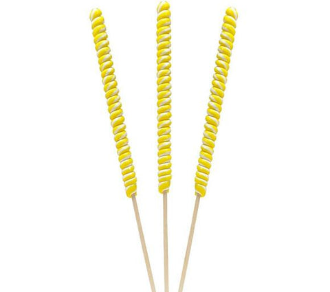 "Twist Lolliop 18"" - Yellow & White - Lemon - 12CT"