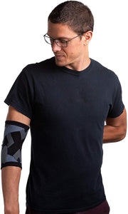 front view of simien tennis elbow compression sleeve