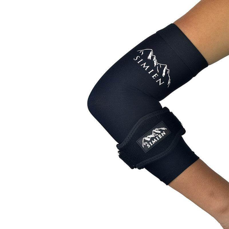 Simien Tennis Elbow Brace + Sleeve Compression Combo (1-count each)