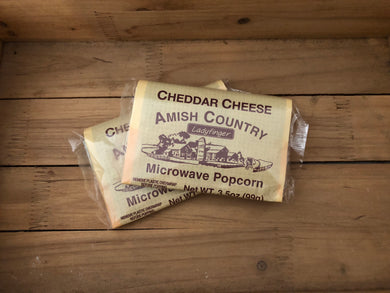 Amish Country Microwave Popcorn - Cheddar Cheese - Hulless