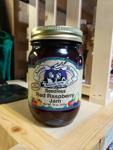 Amish Wedding 18oz Seedless Red Raspberry Jam