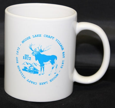 Moose Lake Village White 12 oz. Mug