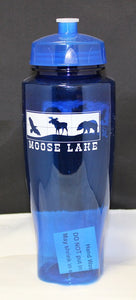 Moose Lake Village Large Water Bottle - Blue