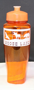 Moose Lake Village Large Water Bottle - Orange